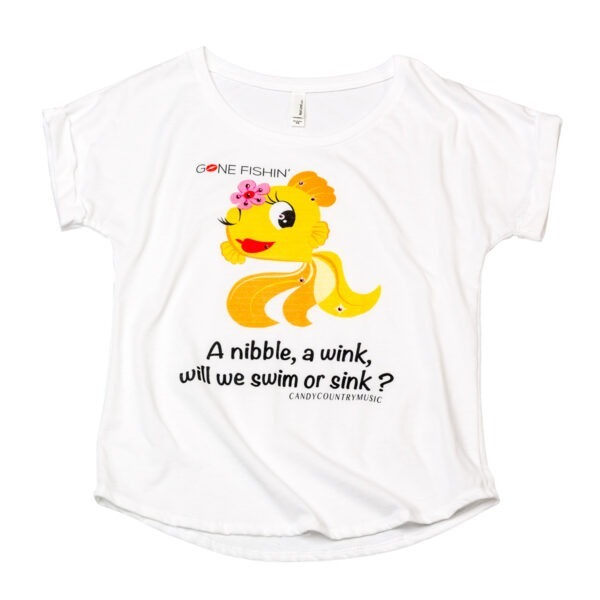 Gone Fishin' 'Swim or Sink' Ladies Cap Shirt