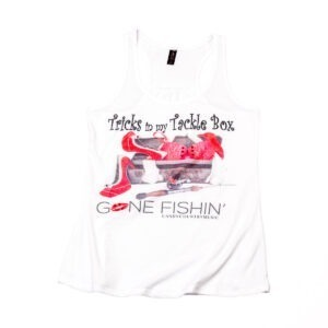 Gone Fishin' Tricks in my Tackle Box Ladies Tank Top