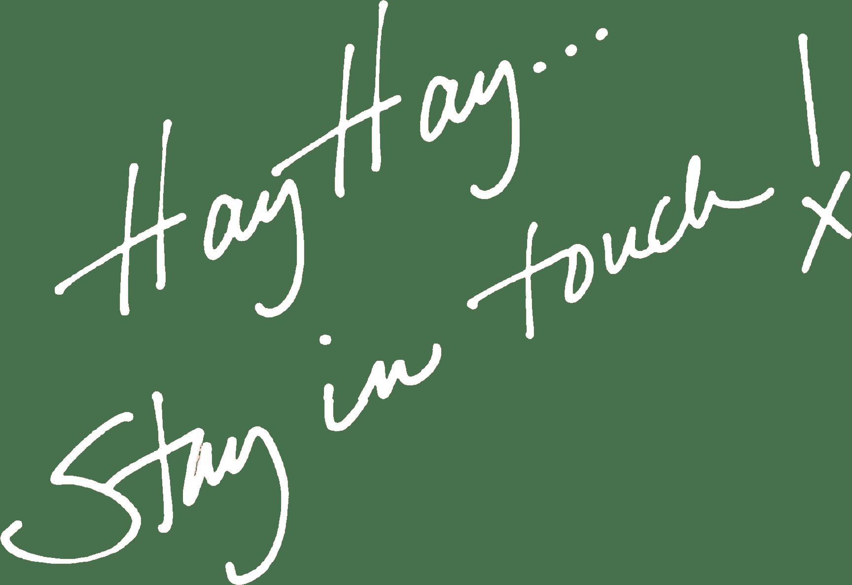 hay hay handwritten