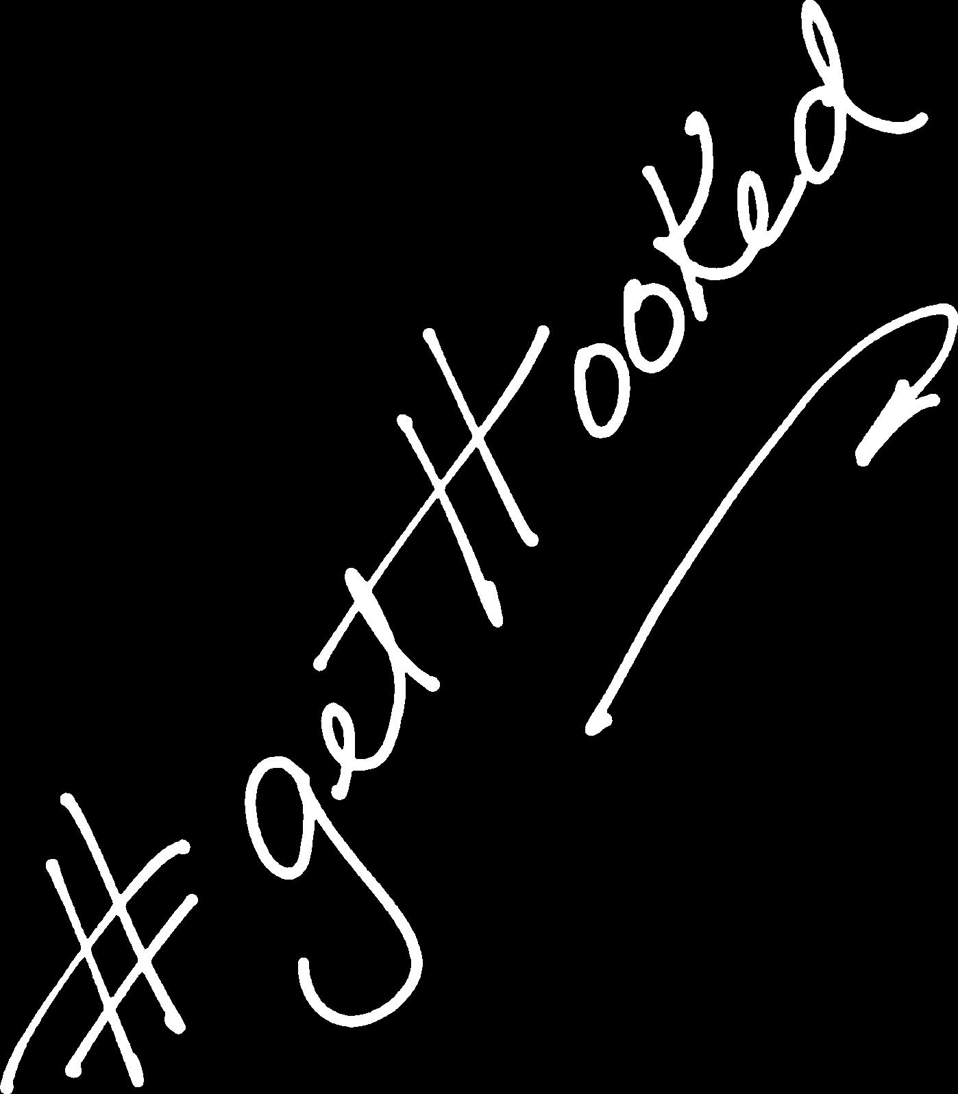 get hooked handwritten